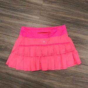 Neon Pink Lululemon tennis skirt size 6